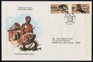 South West Africa 415 - 6 Fdc Ostrich,  Bushman Hunters photo