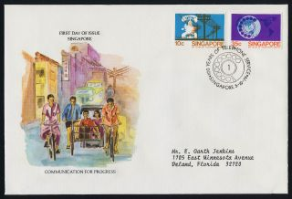 Singapore 325 - 6 Fdc Telephone,  Communications photo
