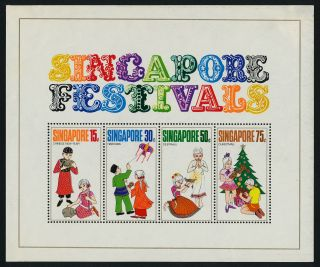 Singapore 141a Mh Festivals,  Christmas,  Chinese Year,  Deepavali photo