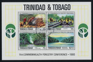 Trinidad & Tobago 336a Forestry,  Charcoal Production photo