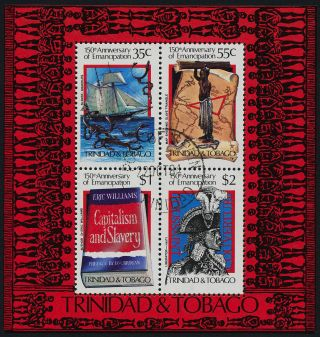 Trinidad & Tobago 426a - Ship,  Emancipation,  Map photo