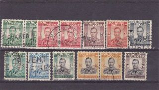 Southern Rhodesia Kgvi Issues To 2/ - Incl.  1/6d High Cat Pair photo