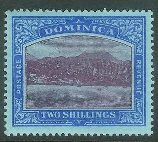Dominica 1908/21 Purple/blue On Blue 2/ - Sg53b photo