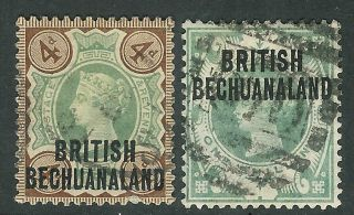Bechuanaland 1888/91 Green/brown 4d Dull - Green 1/ - Sg35/37 photo