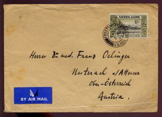 Sierra Leone Kg6th Cover To Austria. . .  1/ - Solo Franking photo