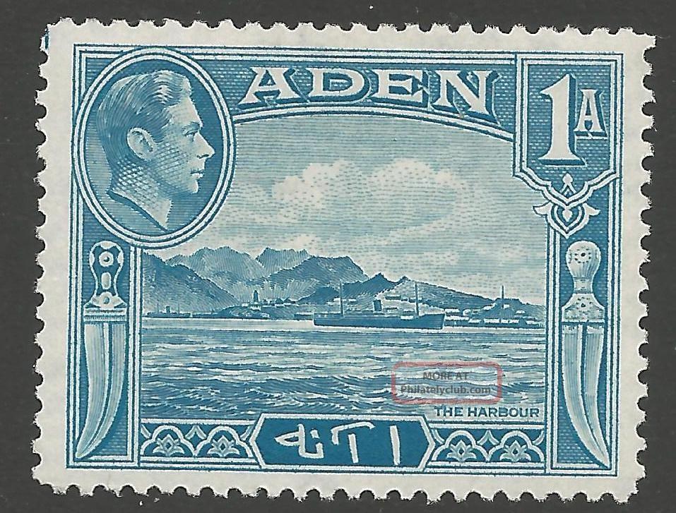 Aden Sg18 1939 1a Pale Blue Mtd British Colonies & Territories photo
