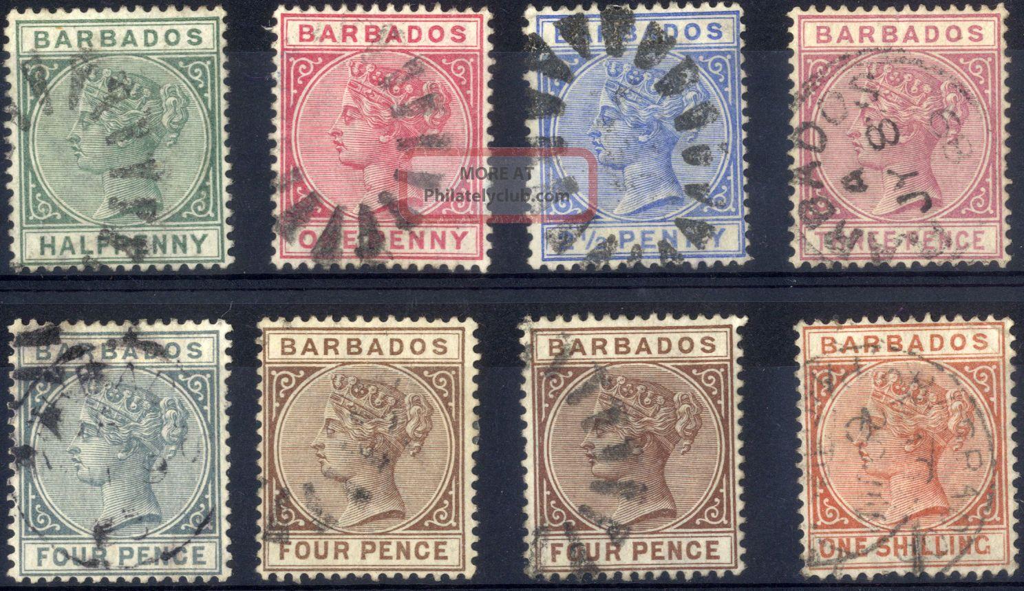 Barbados - Sg 89 - 102 (between) - 1882 - 86 - Definitive Values - British Colonies & Territories photo