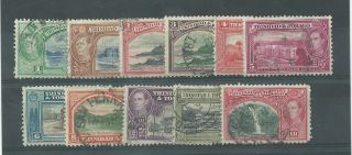 Trinidada & Tobago - 1938 To 1944 - Sg246 To Sg248a & Sg249a To Sg254 Cv £ 6.  35 photo