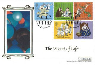 2003 Secret Of Life Silk Ltd Edition Fdc Secret Of Life Cambridge Sp Pmks photo