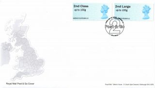 2nd Class Machin Stamp - Royal Mail Post & Go Faststamps Fdc / Fdc - 20.  2.  2013 photo
