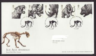 Great Britain 2359 - 2363 Ice Age Animals 2006 Typed Addressed Fdc T404 photo
