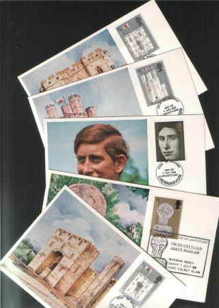 1969 Investiture Cameo Maxi - Cards Fdcs Margam Abbey Sp Pmk Lovely photo