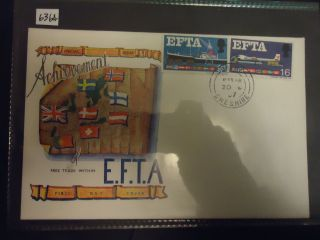 Great Britain 2x First Day Cover 1967 Efta (conndisseur Cover + Gpo Cover) photo