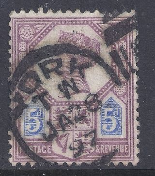 Gb Sg207a Qv 5d Dull Purple & Blue Our Ref K261 Jubilee Issue Die Ii photo