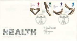 1998 50th Anniversary Of The National Health Service,  Tredegar Postmark Fdc photo