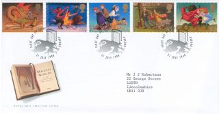 1998 Famous Children ' S Fantasy Novels,  Oxford Postmark Fdc photo