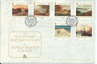 2004 Isle Of Man Watercolours First Day Cover Refy19 photo