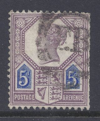 Gb Sg207 Qv 5d Dull Purple & Blue Our Ref K286 Jubilee Issue Die I photo
