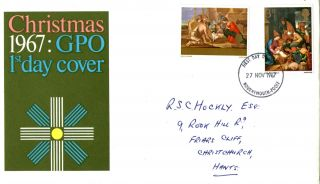 27 November 1967 Christmas Gpo First Day Cover Bournemouth Fdi photo