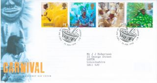 1998 Festivals,  Notting Hill Carnival,  London Sw1 Postmark Fdc photo