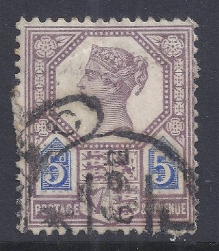 Gb Sg207a Qv 5d Dull Purple & Blue Our Ref K262 Jubilee Issue Die Ii photo