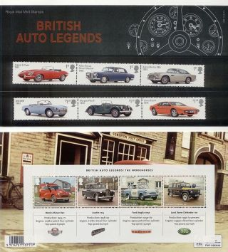 Gb 2013 British Auto Legends Stamp Presentation Pack photo