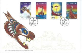 1998 Isle Of Man Vikings First Day Cover Refy21 photo