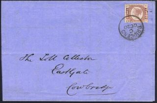 1870 1/2d Cds Bill For Casual Labour Bridgend Cowbridge Glamorgan photo