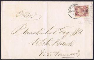 1870 1/2d Newtownards Ireland Printed Tailor Shoemaker Ohms photo
