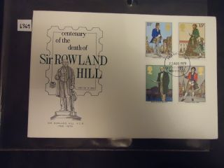 Great Britain Fdc 1979 Rowland Hill.  3 Different Fdc photo