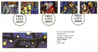 10 November 1992 Christmas Royal Mail First Day Cover Bethlehem Shs (a) photo