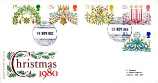 19 November 1980 Christmas Post Office First Day Cover British Library Shs photo