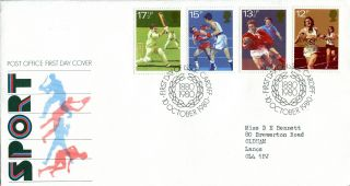 10 October 1980 Sport Centenaries Post Office First Day Cover Cardiff Shs (v) photo