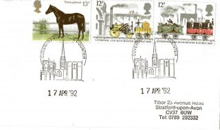17 April 1992 Transport Cover Coventry Philatelic Counter Shs (a) photo