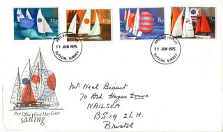 11 June 1975 Sailing Post Office First Day Cover Sutton Surrey Fdi photo