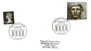 15 June 1993 Roman Britain Cover Roman Pillars London Shs photo