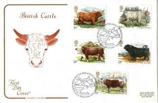 6 March 1984 British Cattle Cotswold First Day Cover Bureau Shs photo
