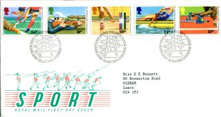 15 July 1986 Commonwealth Games Royal Mail First Day Cover Bureau Shs (w) photo