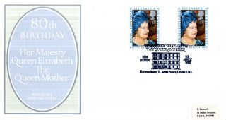 4 August 1980 Queen Mother 80th Birthday G/pr Po First Day Cover Clarence House photo