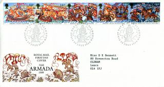 19 July 1988 Spanish Armada Royal Mail First Day Cover Plymouth Shs (a) photo