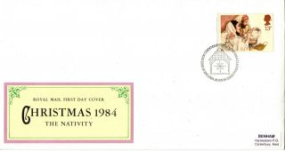 20 November 1984 Christmas Royal Mail First Day Cover Bethlehem Shs (c) photo