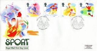 22 March 1988 Sport Royal Mail First Day Cover Appropriate Wembley Shs (w) photo