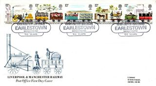 12 March 1980 Liverpool & Manchester Railway Po First Day Cover Earlestown Shs photo