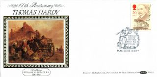 10 July 1990 Thomas Hardy Benham Blcs 55 First Day Cover Dorchester Shs (2) photo