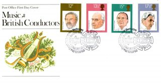 10 September 1980 Famous Conductors Post Office Fdc Royal Philharmonic Orchestra photo