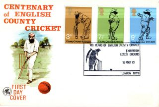 16 May 1973 County Cricket Wessex First Day Cover Lords Exhibition Shs photo
