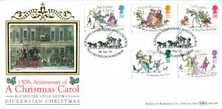 9 November 1993 Christmas Benham Blcs 89 First Day Cover Rochester Shs photo
