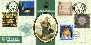 7 November 2000 Spirit And Faith Benham Blcs 194 Fdc Downpatrick & Jersey Shss photo