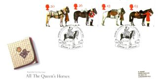 8 July 1997 All The Queens Horses Rm First Day Cover Horse Guards Avenue Shs photo