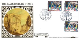 2 December 1986 Christmas Benham Blcs 19 First Day Cover Glastonbury Thorn Shs photo